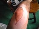 朝からオッサンの脚の写真でスミマセン