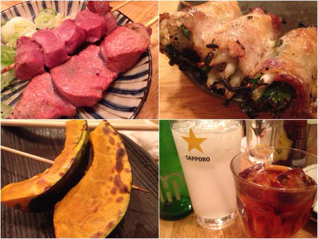 魚の後は肉と野菜