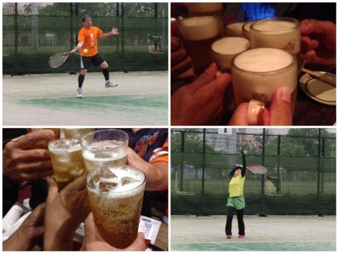 テニス→ビール→ホッピー→電車でGo!
