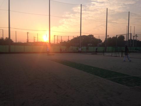 33群の夕陽