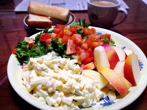 今朝の食事と筋トレの記録