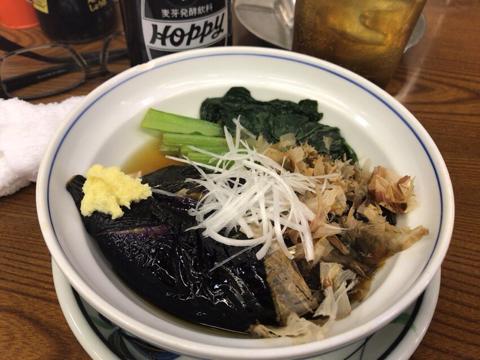 茄子と小松菜の煮浸し 350円