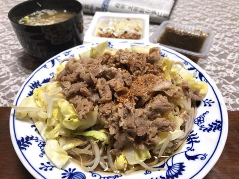 今朝の筋トレと麺トレ_φ(・_・