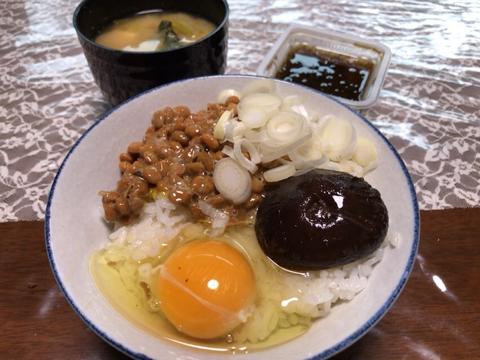 納豆 たまご 椎茸 もずく酢