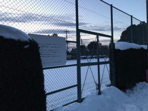 今朝の某テニスクラブ