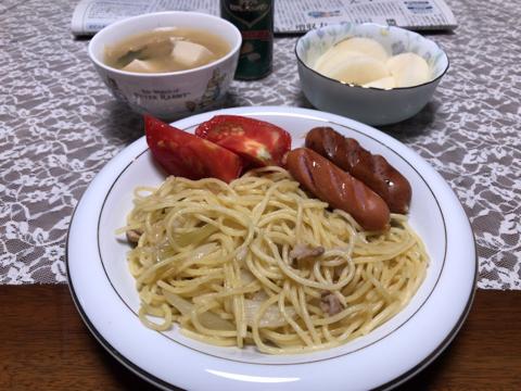 今朝の麺トレとプール