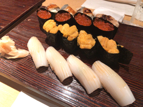 日本橋で寿司
